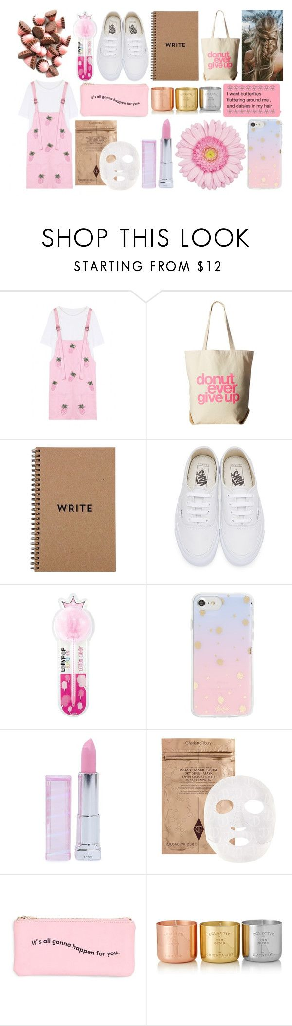 """""""Little Diva"""" by niivii on Polyvore featuring WithChic, Dogeared, Brika, Vans, International Arrivals, Sonix, Maybelline, ban.do and Tom Dixon"""