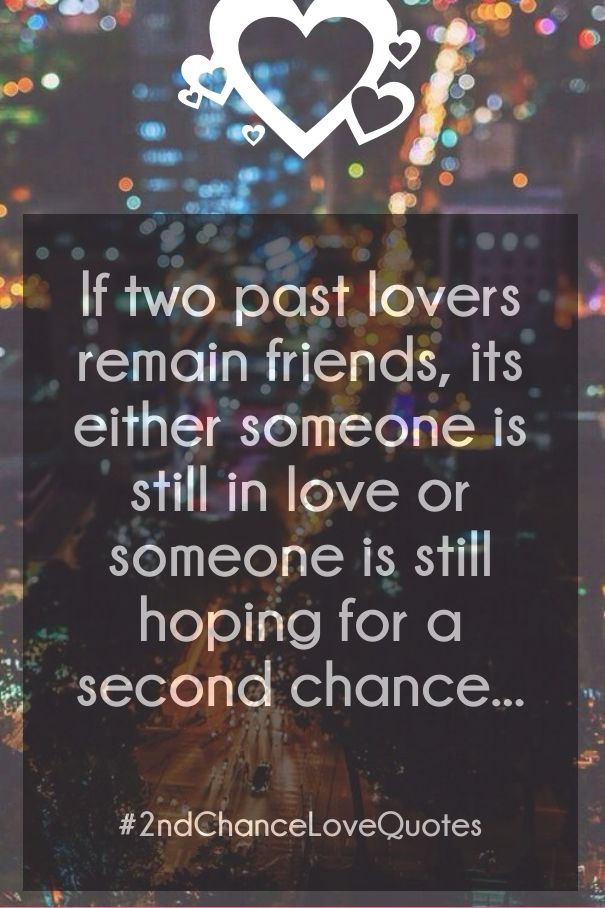 giving someone a second chance in a relationship