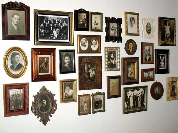The old frames add such interest to this grouping from HGTV.