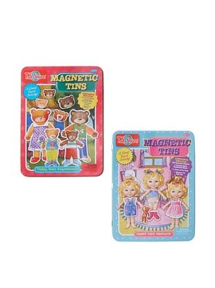 29% OFF T.S. Shure Teddy Bear & Teeny Tiny Triplets Magnetic Tin Playset