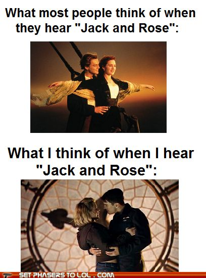 "Truth. And then someone mentions ""Jack,"" ""Rose,"" and ""Titanic"" in the same breath, and I'm like, ""They weren't even in that episode."" And then the stares. And then it clicks."