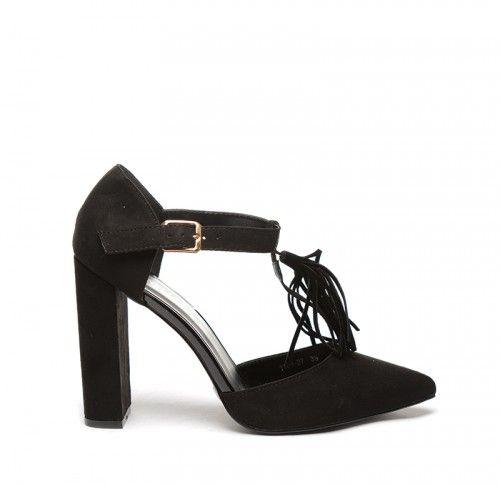Sandale Candy Negre -  Piele eco intoarsa  Colectia Sandale cu toc de la…