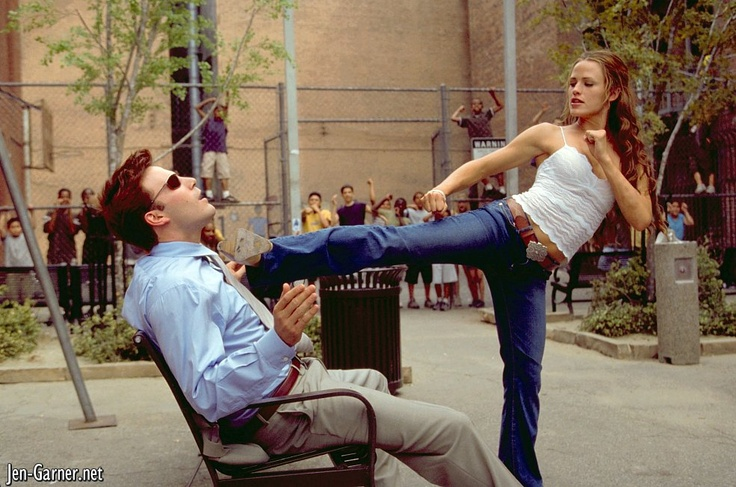 Future husband and wife (Ben Affleck and Jennifer Garner in the underrated Daredevil)