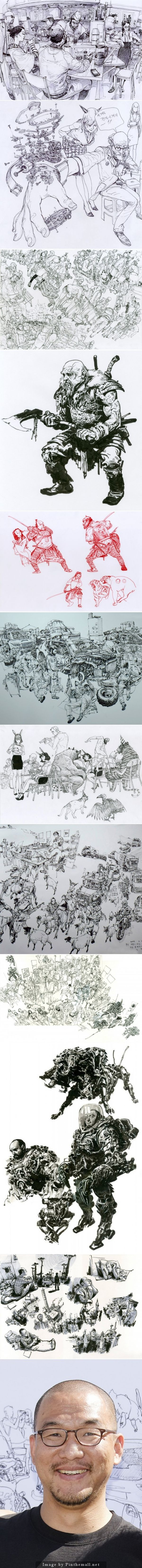 The Fantastic Art by South Korean Cartoonist Kim Jung Gi - created via http://pinthemall.net