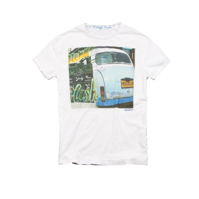 #40weft S/S 2015 #mancollection print #TSHIRT with the symbol of flower power generation #repin