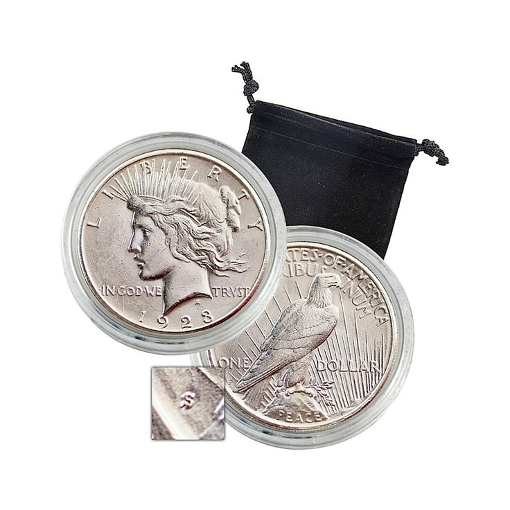 Coin Collector 1923 S-Mint Uncirculated Silver Peace Dollar Coin