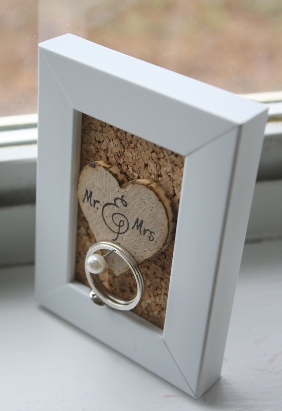 Wedding Ring Holder Frame  Rustic  Shabby Chic  by thepaperynook, $12.95
