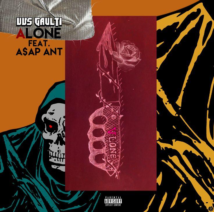 official coverart for 'alone' by vvs gaulti feat. A$AP Ant  https://soundcloud.com/vvsgaulti/vvs-gaulti-x-aap-ant-alone