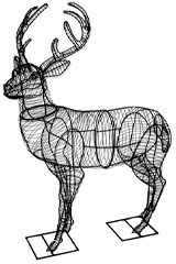 Topiary, Deer, Plant, Frame, Moss, Wire, Form, Shrub, Topiaries