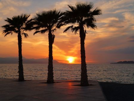 Sunset in Loutraki  ( Corinthia Greece ) Photo by panos m. -- National Geographic Your Shot