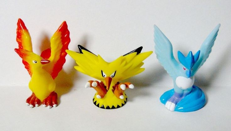 Pokemon Finger puppet #144-146 Articuno Zapdos Moltres 1997 98 Set Figure Japan