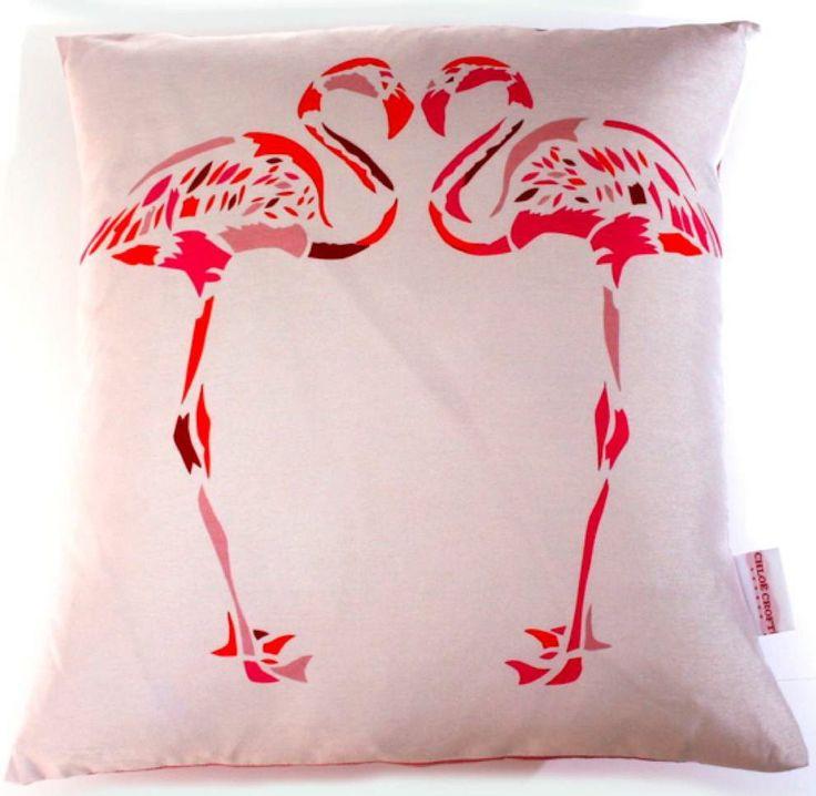 Fuscia Flamingo £59.00 inc. UK postage. For full details please see website www.cushionsbydesign.co.uk
