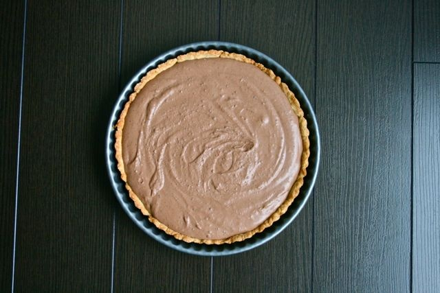 Chocolate Bailey's Mousse Tart for a St. Patrick's Day Party