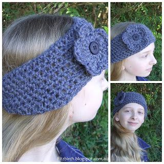 Just love this free pattern for a crochet headband.  Really simple and quick and…