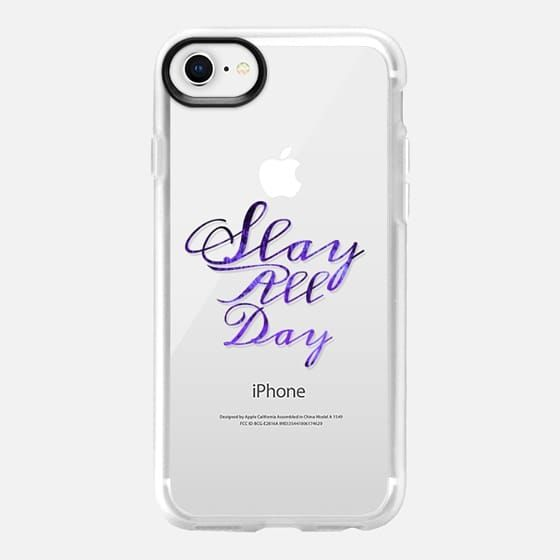 SLAY ALL DAY, VIOLET PURPLE By Artist Julia Di Sano, Ebi Emporium on Casetify, iPhone Case #iphonecase #slay #slayallday #minimalist #EbiEmporium #Casetify #CasetifyArtist #purple #violet #amethyst #want #musthave #clearcase #transparent #case #iphone6 #iphone7 #iphone8 #iphonex #iphone7plus #iphone8plus #samsung #typography #font #girlboss #tech