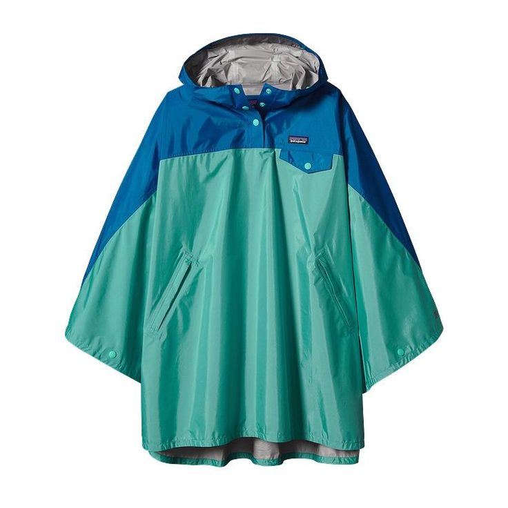 Patagonia Women\'s Torrentshell Poncho - Howling Turquoise HWLT
