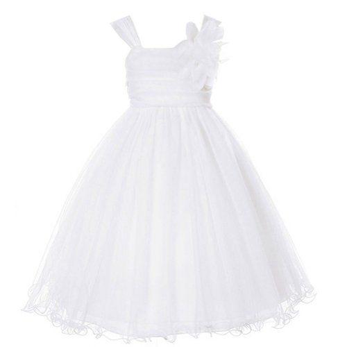 Kids Dream Little Girls 4 White Double Layer Mesh Flower Girl Dress Kids Dream,http://www.amazon.com/dp/B00CIB5O7I/ref=cm_sw_r_pi_dp_nzXssb1BH9KS1EXJ