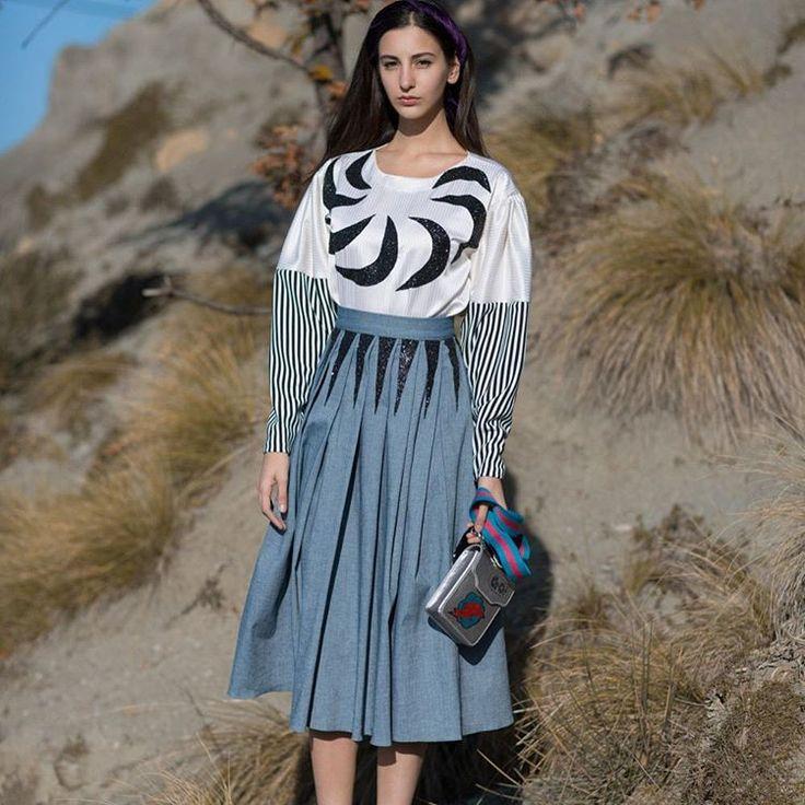 The #fashion house @maison_stellasallaku - #Sustainable, #fashionable & Eco-friendly #designs building a better tomorrow!. #stellasallaku #emergingdesigner #madeinalbania CONTACT  @jaante_showroom 4 #wholesale #jaanteshowroom #zh #designershowroom #skirt #bluemonday #aw16 #fashionista #musthavedesign #albaniangirl #swissgirl #swiss #switzerland #fashionshowroom #zurich #zuerich #suisse #fashionlifestyle #naturelovers #naturebeauty #jaanteshowroom