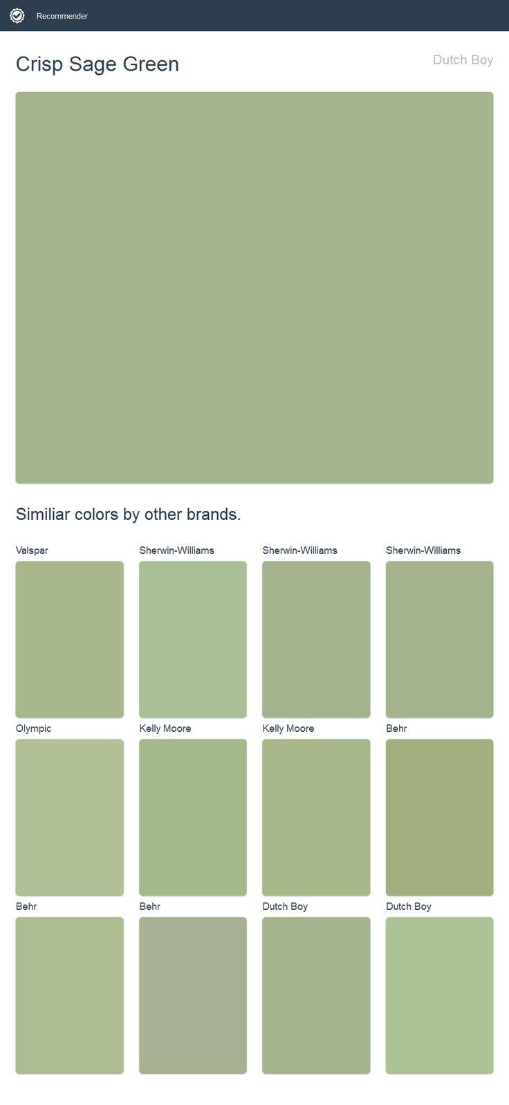 Crisp Sage Green Dutch Boy Dunn Edwards Paint Paint Colors Valspar Paint