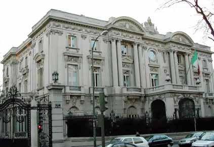 Palacio del Marqués de Amboage. Hoy se encuentra la embajada de Italia