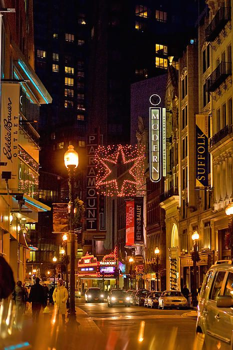 Theater District in Boston ... great shows and niteclubs there.  Miss it!