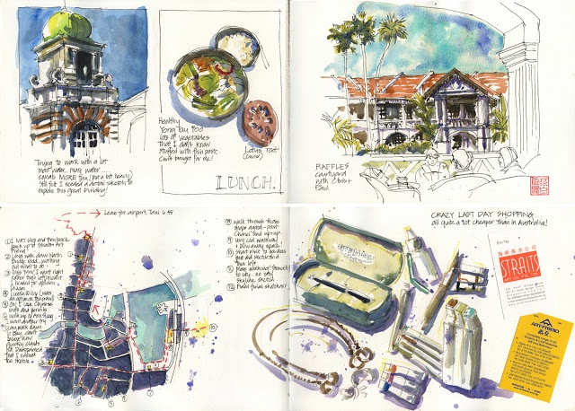 Revisiting my Singapore sketchbooks