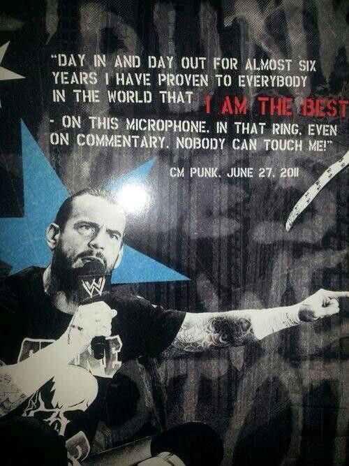 One of the most defining moments in Punk's career.