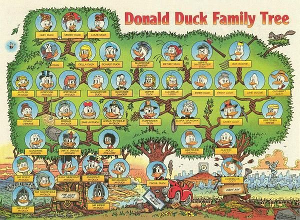 I know it's a Donald Duck family tree but I think you could use the same idea, Sarah, for the cousin tree