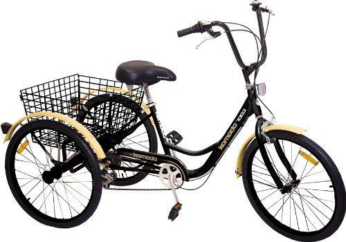 "Komodo Cycling 24"", 6-speed Adult Tricycle #7002 - Komodo - http://www.bicyclestoredirect.com/komodo-cycling-24-6-speed-adult-tricycle-7002-komodo/"