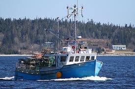 Nova Scotia. Lobster fishing