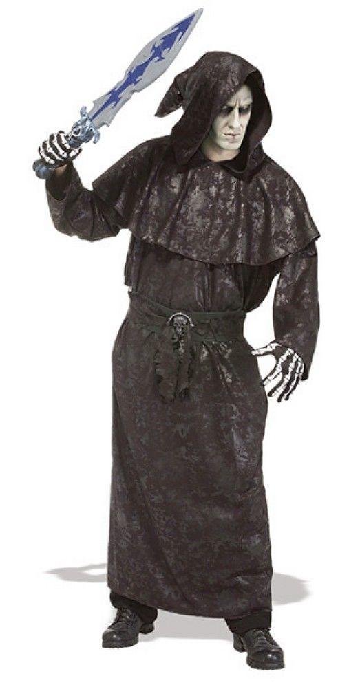 Dark Vengeance Robe Black Hooded Robe Rubies 16700 Std Adult Size New #Rubies #HoodedRobe