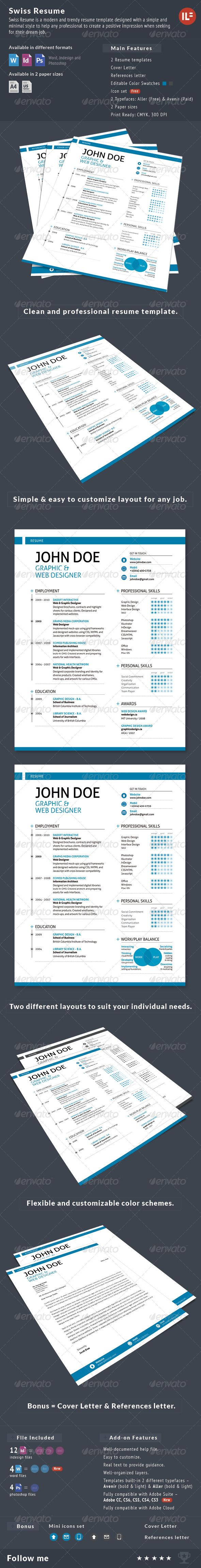 Best Indesign Resume Templates Images On   Curriculum