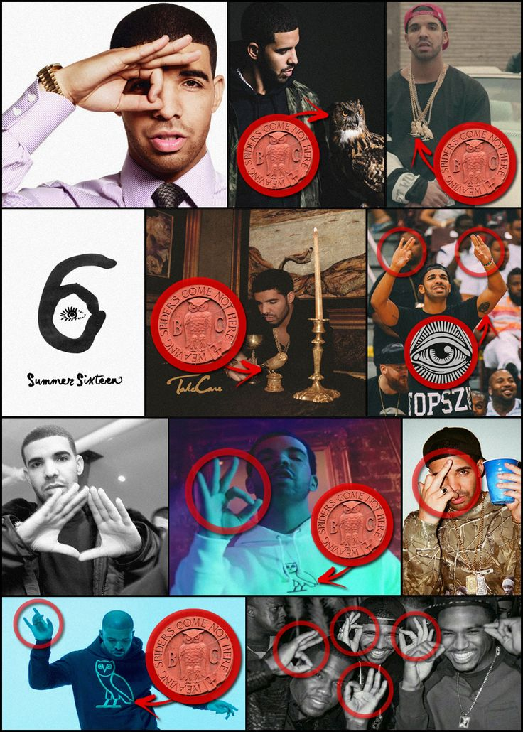 As Drake's career in the music industry began to skyrocket, following his early success as a child actor, subliminal occult symbolism and imagery started to become increasingly prevalent within his music videos, merchandise and photoshoots. Additionally, Drake has deliberately engaged in blatant Eye Of Horus displays on numerous occasions and has become notorious for constantly promoting The Owl Of Minerva/Athena, which he would eventually adopt as the logo of his upstart record label OVO…