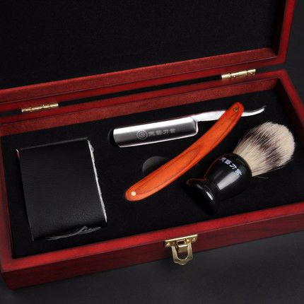 3 In 1 Men Shaver Set Straight Razor Barber Folding Knife Classic Razors Barber Shaving Brush Strop Face Care Scheermes Kapper  $67.97    http://hespirides.com  #me #new #love #cute #perfect