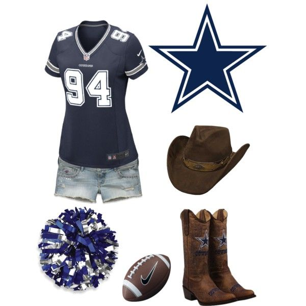 Cowboys football cheerleading/fan outfit