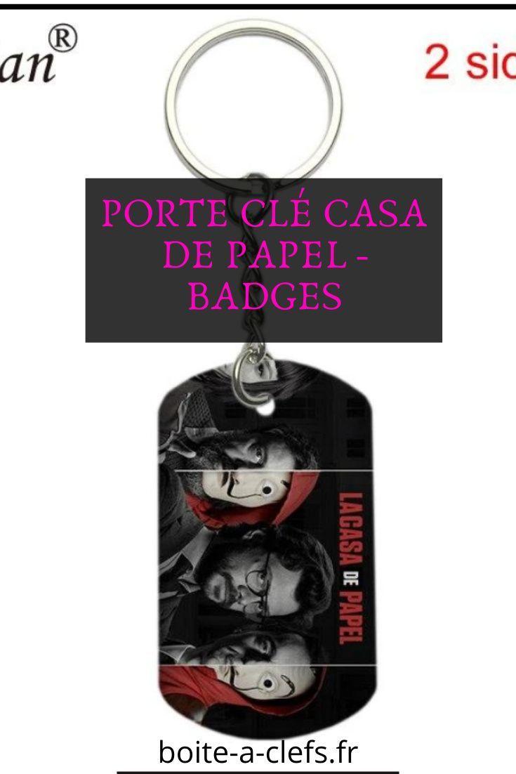 Porte Cle Casa De Papel Badges Porte Cle Porte Cle Mural Boite A Cles Murale