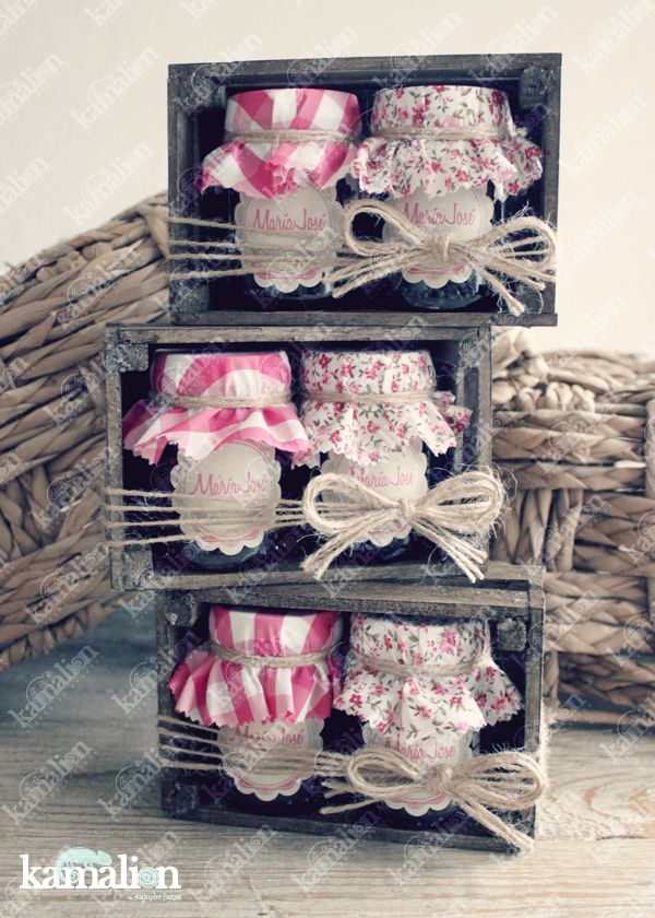 www.kamalion.com.mx - Recuerdos / Giveaways / Favors / Detalles Personalizados / Vintage / Rosa / Pink / Mermelada / Jam / Wood / Madera / Kit de Mermeladas / Frascos / Jars.