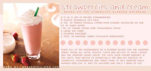 Strawberries + Cream by Starbucks