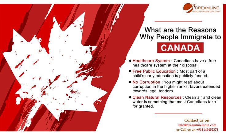 Powerful reasons to #migrate to #Canada - Dreamline India.