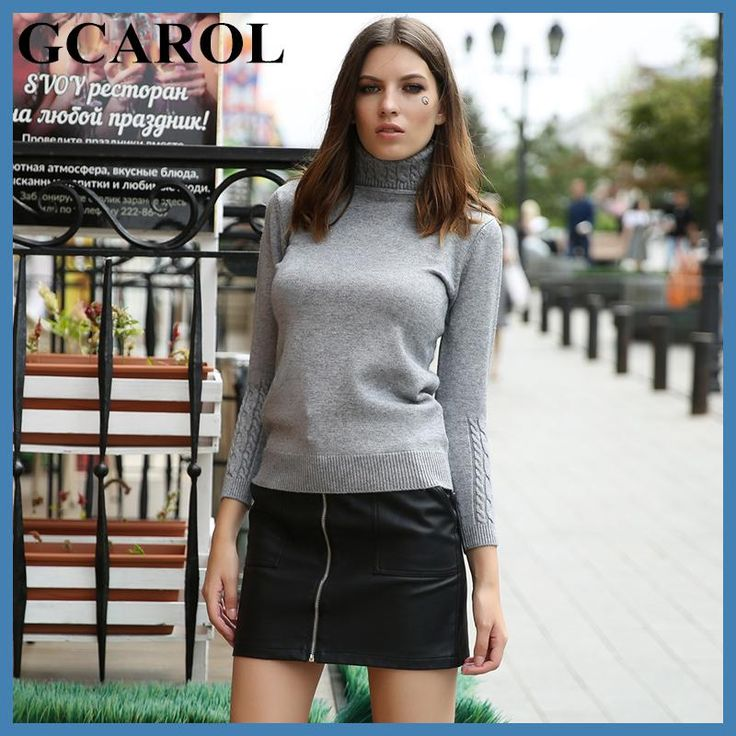 GCAROL New Arrival Women Turtlneck Sweater Twist Stretch Knitted Pullover Autumn Winter Thick Basic Knit Tops With 6 Colors