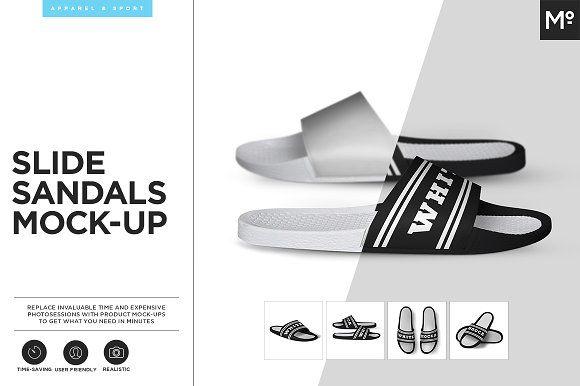 Slide Sandals Mock-up by Mocca2Go/mesmeriseme on @creativemarket