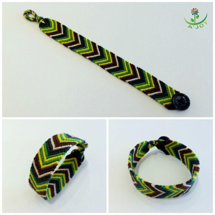 Friendship Bracelet FB00019 (Strings : 18, Colours : 5, Rows : 14)