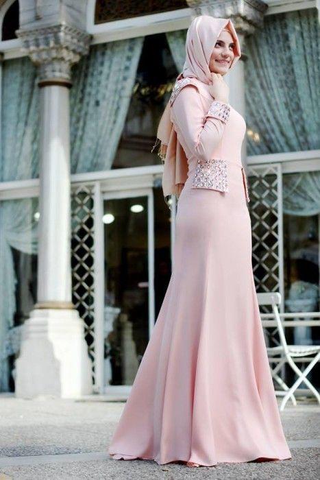Merve gündüz tesettür elbise modelleri 2015