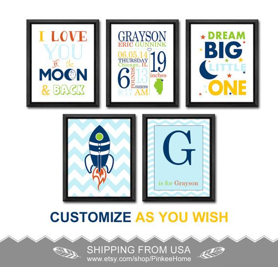 180 best baby birth wall art birts stats art images on pinterest space nursery birth print rocket personalized baby gifts wall decor moon and stars baby boy birth negle Image collections