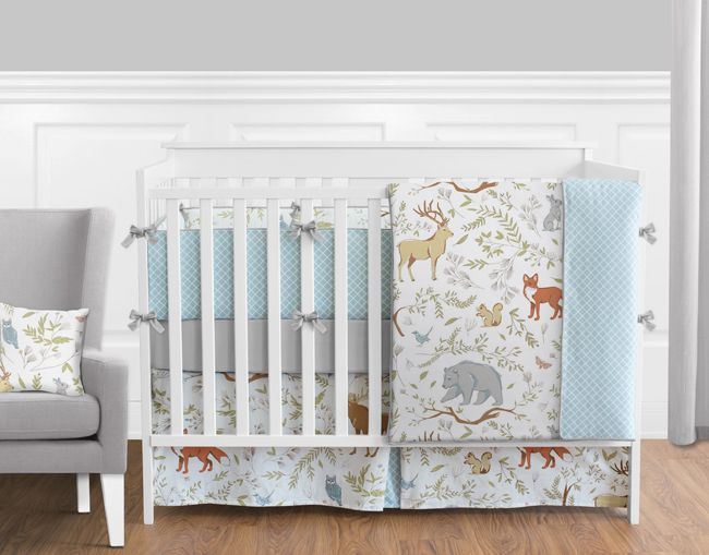 Woodland Toile Crib Bedding Collection 9-Piece Crib Set - Baby's Own Room