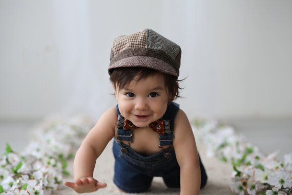 Newsboy Hat Little Boys Newsboy Hat Kids Photo by SewMuchStyle
