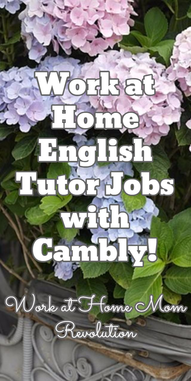 Work at Home English Tutor Jobs with Cambly! / Work at Home Mom Revolution
