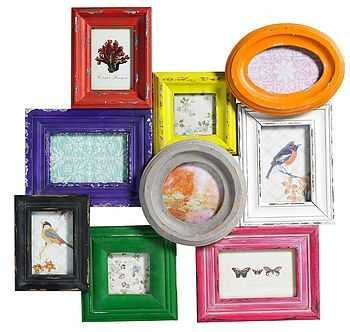 Distressed Nine Multi Picture Frame