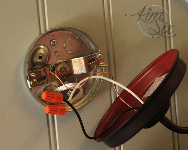 How To Convert A Hardwired Wall Sconce To A Plug In Lamp