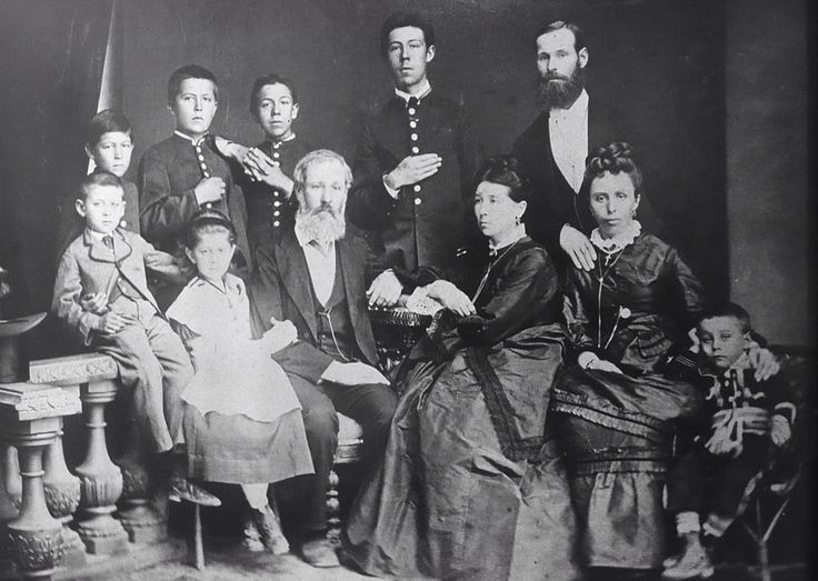 The Chekhov in 1874: Anton is the second left standing.